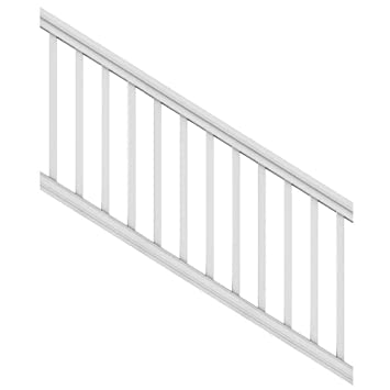 Nice Veranda 6 Ft. X 36u0026quot; White DIY Pro Vinyl Stair Railing Kit