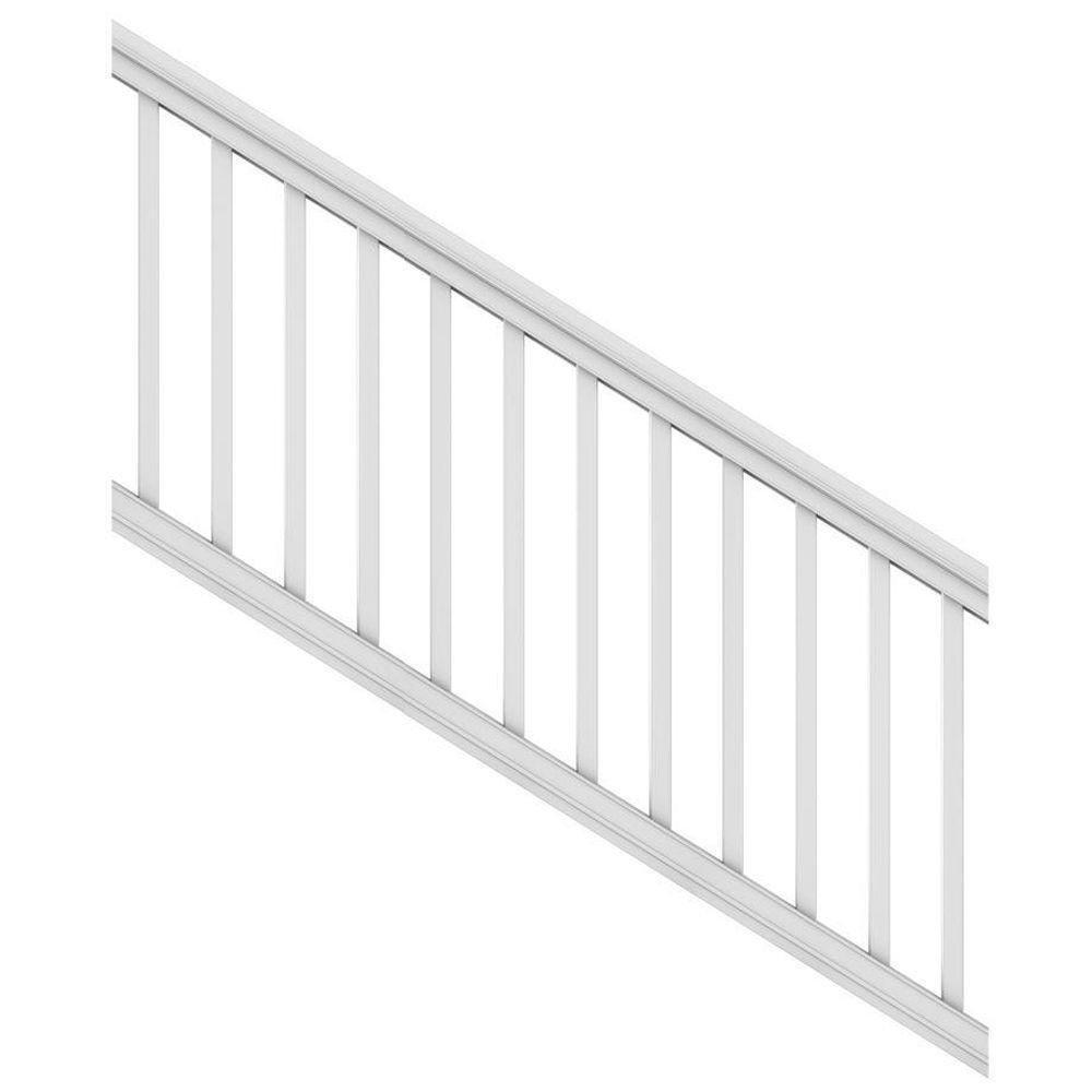 Veranda 6 ft. x 36'' White DIY Pro Vinyl Stair Railing Kit
