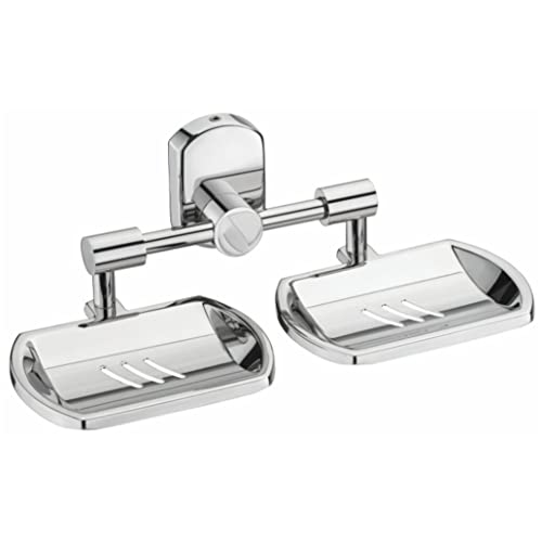 Jovial 209 Curio Double Soap Dish Stand, Double Soap Dish Holder, Bathroom Accessories(304 Stainless Steel)