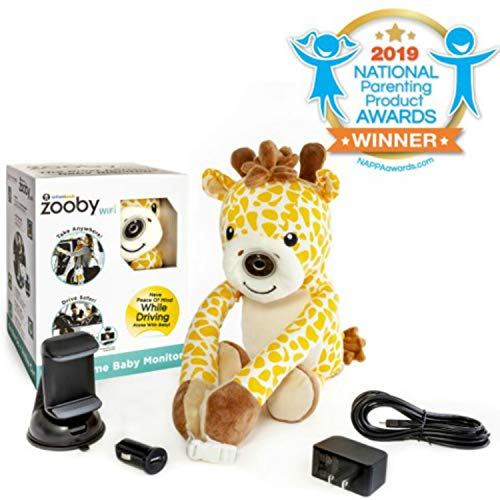 Zooby WiFi Direct Portable Video Baby Monitor – The Only Truly Mobile Baby Camera for Home, Car, Backyard, Mom Invented for Total Peace of Mind Because Baby is Always in View, Giraffe