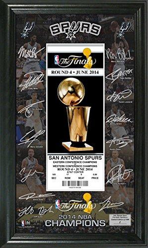 Antonio San Coins Gold (NBA San Antonio Spurs 2014 Champs Signature Ticket, Black, 22