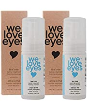 We Love Eyes- Vegan Tea Tree Eyelid Eyelash Foaming Cleanser DOUBLE PACK- Blepharitis, Demodex, Dry Eyes Relief and treatment, Wash Eyelashes, Reduce Itching and Inflammation