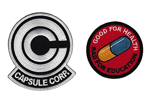 Pill Capsule Costume (Set2 WB-VH Anime Dragonball Z Capsule Corp. Akira Pill Emo Embroidered Cosplay Patch)