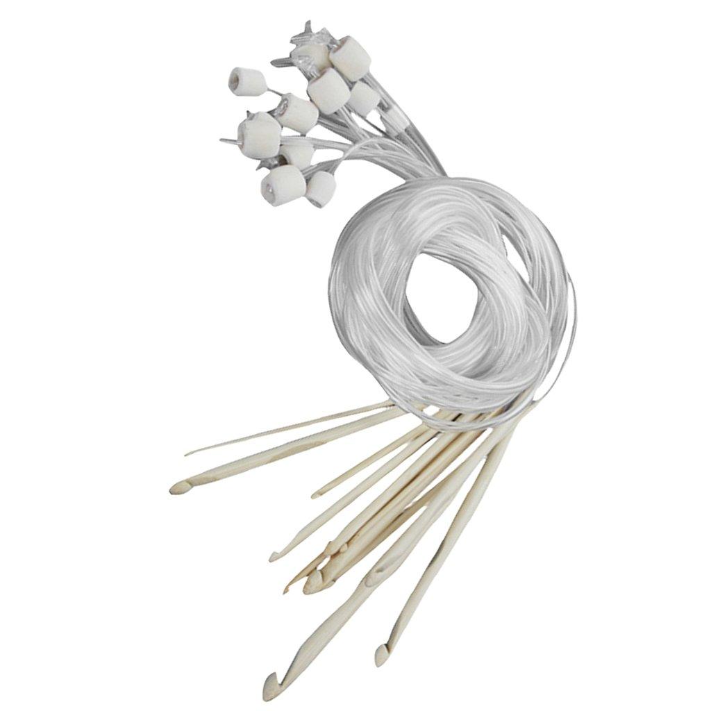 12 Tailles Aiguilles à Crochet en Bambou Blanchi Afghan Tunisien 3,0-10,0 mm Générique 90