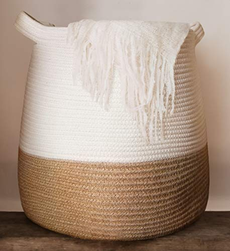 Large Woven Rope Basket | 17 x 17