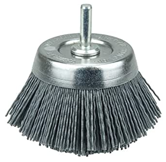 1//4 Stem 2-3//4 0.035//180SC Crimped Fill Weiler 14403 Nylox Cup Brush