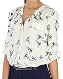 Clothes Old Navy Best Deals - Lovaru Women's Fashion Elegant Bird Print Blouse Long Sleeve Casual Slim Shirts