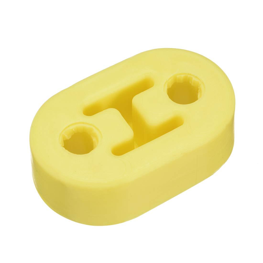 uxcell/® a14022000ux0049 Yellow 4 Holes Car Auto Muffler Exhaust Hanger Bushing 11cm Long