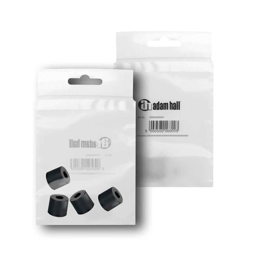 Adam Hall Hardware 4913 M8 AH 8er Set Gummifu/ß 38 x 33 mm schwarz im Beutel