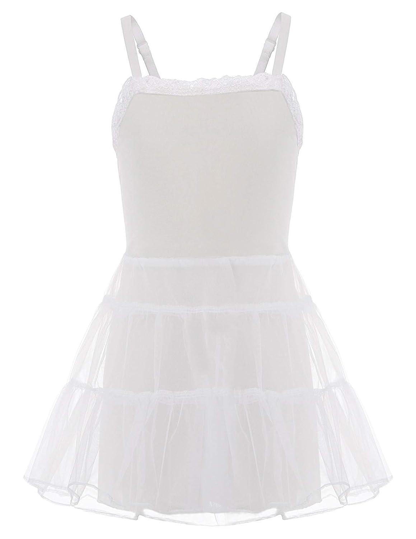 Danna Belle Little Girls White Stretch Lace Slip