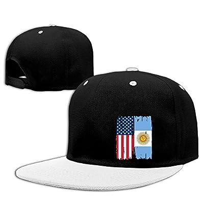 DGJ8GB Unisex American Argentina Flag Hip-Hop Flat Bill Snapback Hats Adjustable Baseball Cap for Women Men