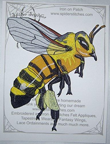 HUGE Honey Bee Worker Apis Mellifera Iron on Patch
