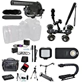 XM-40 Filmmaker Microphone Accessory Holiday Bundle Kit for Nikon CoolPix P900, P900S, P610S, P600, P530, P520, P510, P500, P330, P310, P300, P100