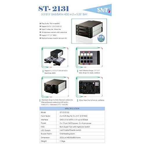 "85%OFF EZDIY 3 Bay Hot Swap Mobile Rack For 2 5"" or 3 5"" SSD"