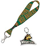 WinCraft Wright State University Raiders Gift Set 1 Premium Key Strap and 1 Key Ring