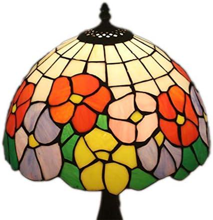 ステンドグラスティファニーテーブルランプ12インチヴィンテージパストラルゴージャスな花のベッドルームランプベッドサイドランプ[エネルギークラスA] WELSUN (Size : Antique Zinc Base)