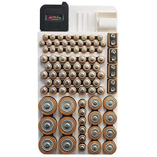 Battery Organizer Storage Case by Range Kleen Holds 82 Batteries Various Sizes WKT4162 Removable Battery Tester primary
