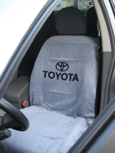 Officially Licensed Toyota Seat ArmourTM Towel Seat Cover- GRAY