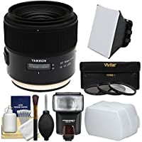 Tamron SP 35mm f/1.8 Di VC USD Lens with 3 UV/CPL/ND8 Filters + Flash + Soft Box + Bounce Diffuser Kit for Canon EOS Digital SLR Cameras