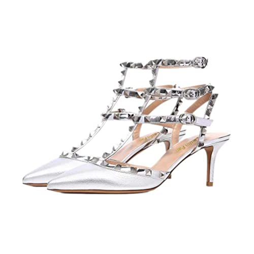 9d0e5a97e29a Caitlin Pan Women Pointed Toe Strappy Sandals Studded Slingback ...