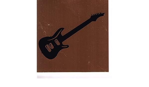 Guitarra eléctrica cuadrada de cobre tarjeta de regalo de música: Amazon.es: Oficina y papelería