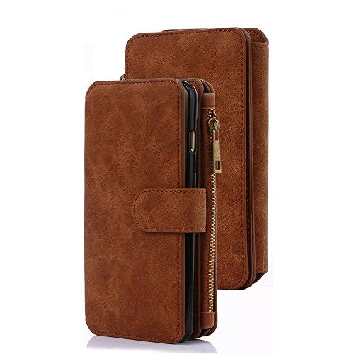 Case-Up iPhone 6S Plus/6 Plus Case, Zipper Cash Storage, Premium Flip PU...