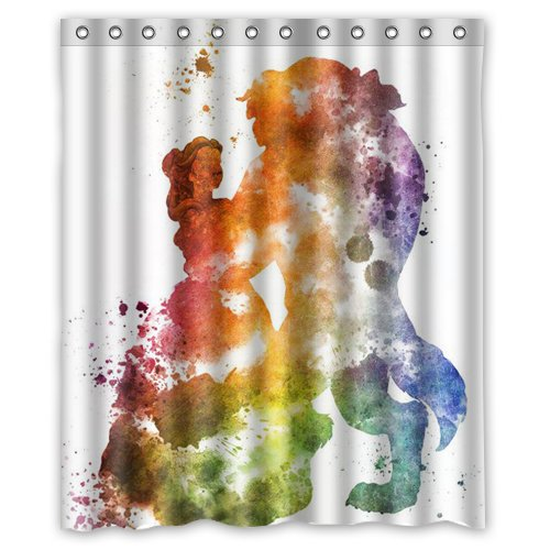 Beauty And The Beast Shower Curtain 60x72 Inch