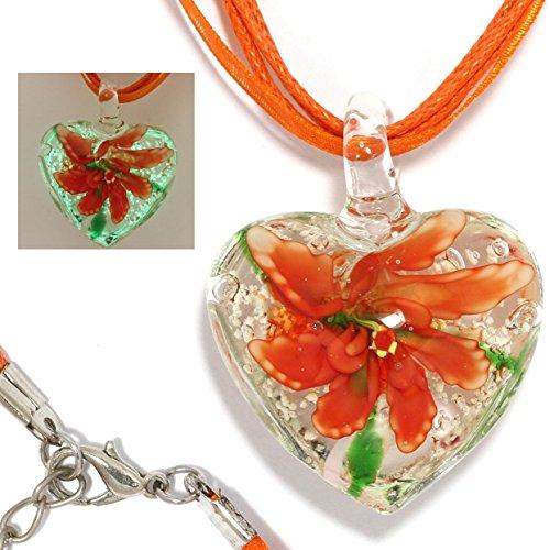 Orange Glass Murano Pendant (AnsonsImages 19