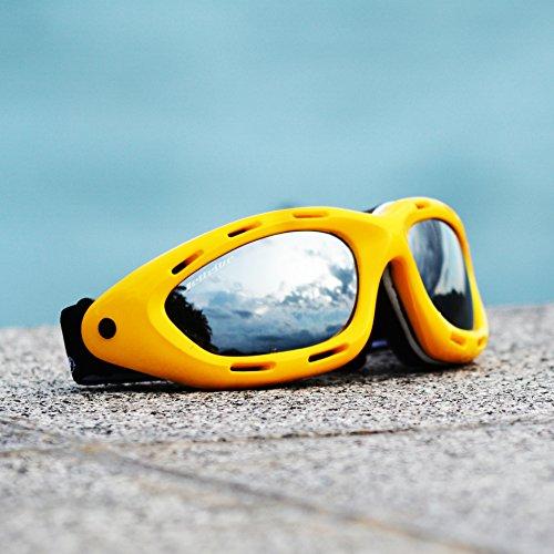 Classic Floating Yellow Frame/Smoke Lens Water Jet Ski Goggles - Waverunner Sunglasses