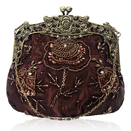 Women Purse Party Coffee Bags Sequin Wedding Evening Manyo Beaded Clutches Flower Fwnpq