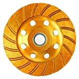 Homend Super Turbo Diamond Cup Wheel 4-1/2 Inch, Grinding Cup Wheel Disc 18 Segs Masonry Stone Cutting Tool for Concrete Angle Grinder (115 x 22mm)
