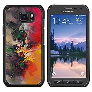 LECELL--Funda protectora / Cubierta / Piel For Samsung Galaxy S6Active Active G890A -- pintura de acuarela pincel pintor naturaleza --