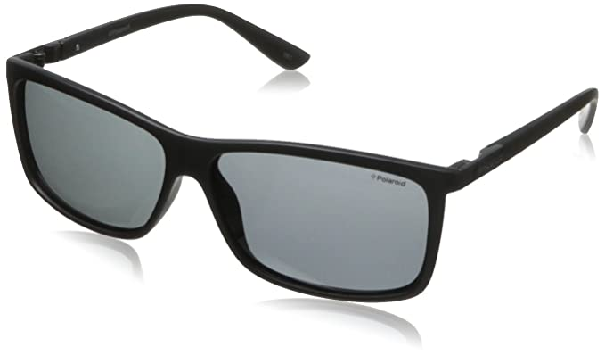 Polaroid Sunglasses P8346S Polarized Rectangular Sunglasses,Black,59 mm