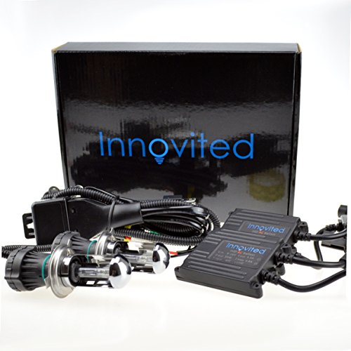 Innovited AC 35W HID Xenon Conversion Kit - H4-3 9003 - 6000K Bi xenon HI/LO HID - 2 Year Warranty (H4 Xenon)