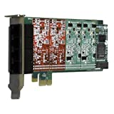 DIGIUM, INC. 1A4B03F - 4 Port Modular Analog PCI-Express x1 Card with 4 Trunk Interfaces and HW Echo Can / 1A4B03F /