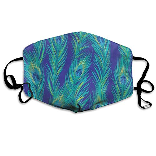 Funshiny Special Mask Reusable Anti Dust Face Mouth Cover Blue Peacock Feather Mask Warm Windproof