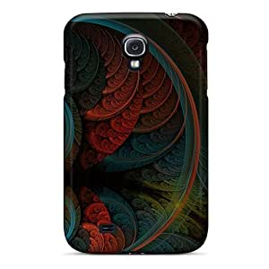 Jeffrehing Case Cover For Galaxy S4 - Retailer Packaging Abstract Red Blue Art Protective Case