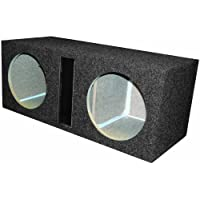 R/T 300 Enclosure Series 328-12 Alpine - Dual 12-Inch Slot Vented Sub Bass Hatchback Speaker Box with Labyrinth Power Port for Alpine Subs