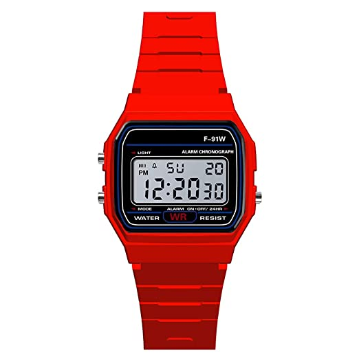 Loolik Relojes Deportivos,Casual Deportes de Lujo Analógico Digital Militar Sport LED Impermeable Hombres Reloj de Pulsera (Rojo): Amazon.es: Relojes