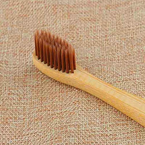 Sunsbell Bambou Brosse à dents avec du charbon Soies, Charbon de bois Brosse à dents en bambou, en bois Brosse à dents charbon, bambou Brosses à dents Biodégradable