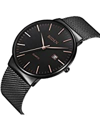 Watch,Men's Fashion Stainless Classic Black Casual Watch...