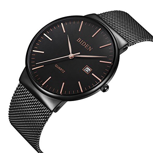 Watch,Men's Fashion Stainless Classic Casual Watch With Milanese Mesh Band , Waterproof Casual Analog Quartz Dress Wrist Watch