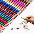 Sketch Colored Pencils,Hexagonal-Art Coloring Drawing Pencils for Adult Coloring Book
