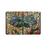 """23.6""""(L) x 15.7""""(W),3/17"""" thickness, Stylish Design Dragonfly Art Painting Indoor/outdoor Floor Mat Doormat"""
