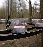Single Tier Bell Tent Tea Light Chandelier (Clear Glass)