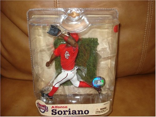 McFarlane Toys Alfonso Soriano 3 (Washington Nationals) MLB Sports Picks Series 21 Action Figure Red Nats Jersey Variant ()