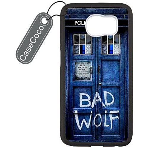 Doctor Who Tardis Bad Wolf Custom Hard Plastic & Rubber Case for Samsung Galaxy S7 Edge - Galaxy S7 Edge Case Sales