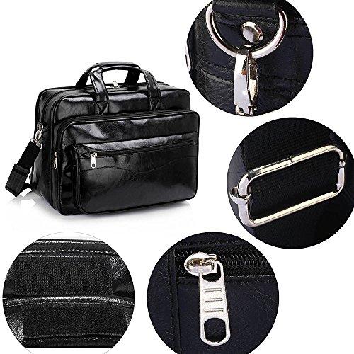 TrendStar - Bolso mochila  de piel sintética para mujer beige G - Beige Negro