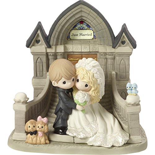Precious Moments The First Step to The Rest of Our Lives Bride and Groom Church Wedding Bisque Porcelain Sculpture 172002