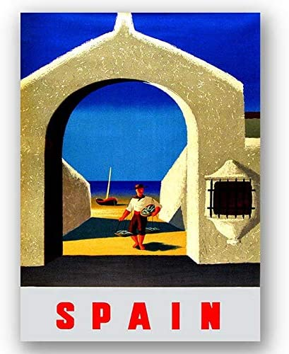 Box Prints España Vintage Retro Travel Poster Art Lienzo Enmarcado Cuadro impresión de la Pared: Amazon.es: Hogar